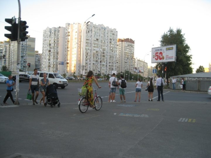 cyclists in Kyiv